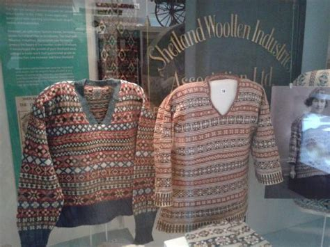 scottish knitting style scary viking children d picture of shetland museum and