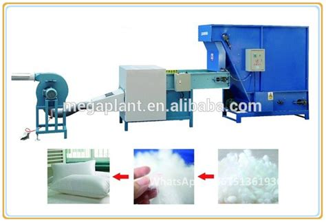 Bantal Hollow Fiber Americana air compressor automatic cotton fiber opening and filling machine for pillow polyester fiber
