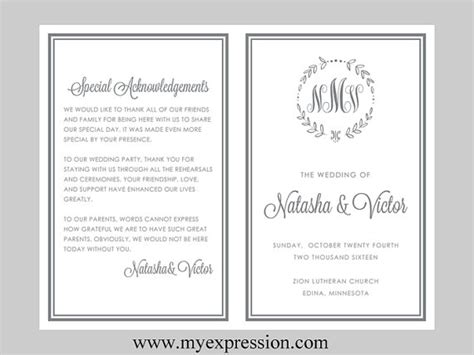 wedding program templates wedding programs fast