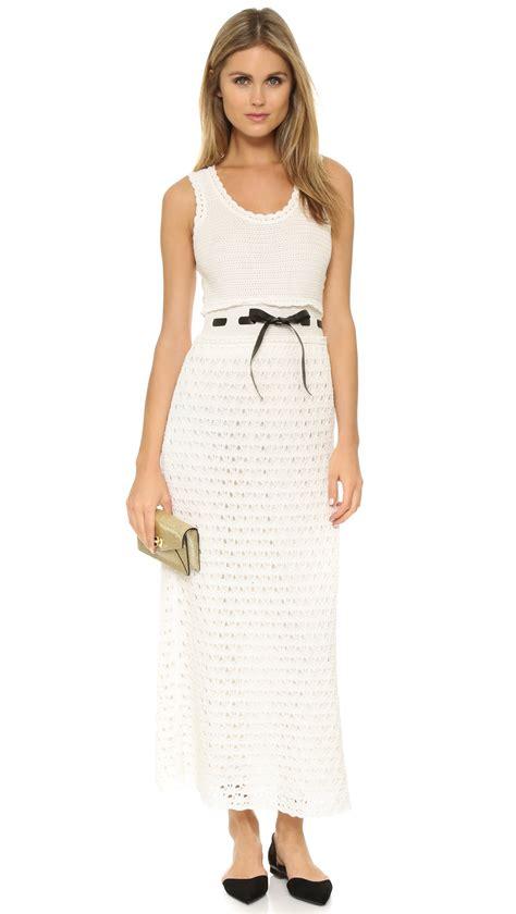 Valentino Maxy lyst valentino crochet maxi dress in white