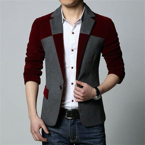 Fashion Pria Jas Pria Blue jual baju blazer pria blazer pria pakaian pria model