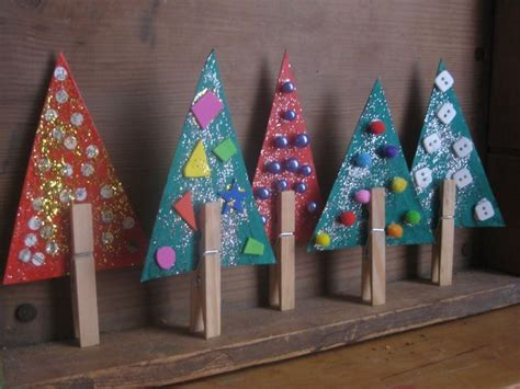 art craft ideas christmas 2nd gr easy trees crafts another great collage craft for k 2nd grade glitterific