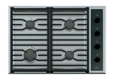 Staghorn Wolf Ketapel Stainless Steel wolf 30 quot stainless transitional gas cooktop cg304t s