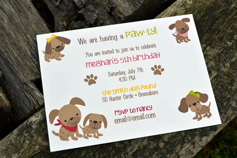 puppy birthday invitations puppy invitations birthday