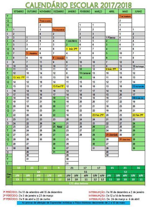 Calendario De 2017 E 2018 Not 237 Cias De Castelo De Vide Calend 225 Escolar 2017 2018