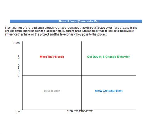 Stakeholder Map Template stakeholder analysis template 9 free documents