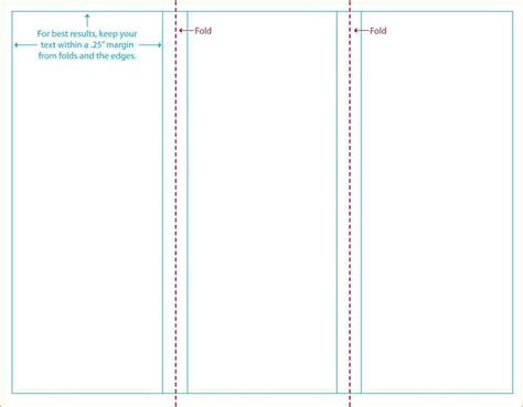 collection blank brochure template for word tri fold templates