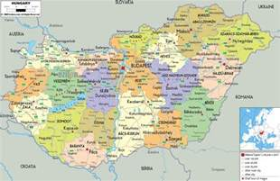 a map of cities maps of hungary detailed map of hungary in