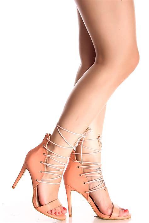single high heels coral open toe lace single sole high heels s heels