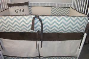 chevron boy bumper pad baby crib set