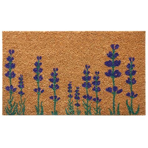Flower Doormat rubber cal purple lavender 18 in x 30 in flower