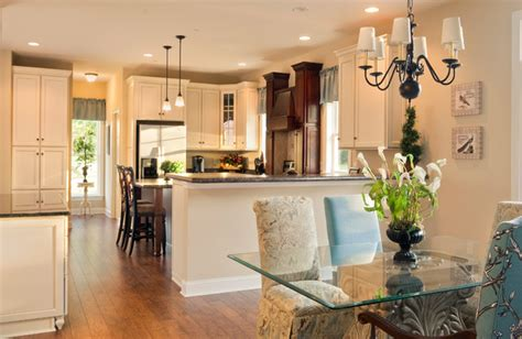 greenwood craftsman model dining room kitchen
