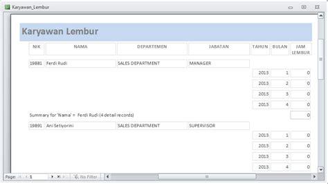 slip gaji karyawan klinik ilmu software rancangan laporan aplikasi payroll