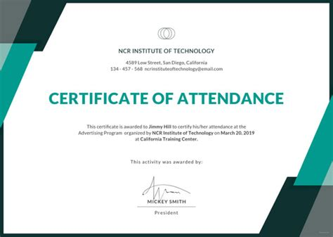 certificate of attendance template microsoft word workshop attendance certificate sle image collections
