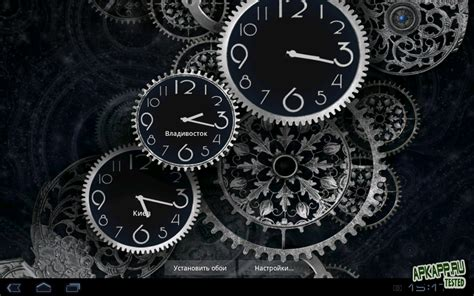 black clock live wallpaper hd v1 05 black clock live wallpaper v1 01 android скачать