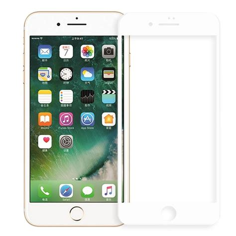 Screen Guard Tempered Glass Cover 4d Iphone 7 apple iphone 7 4d curved cover screen tempered glass white from category screen