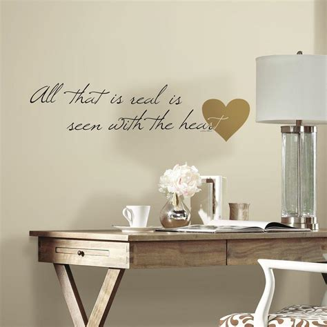 peel and stick wall decals 5 in x 11 5 in heart quote 10 piece peel and stick wall