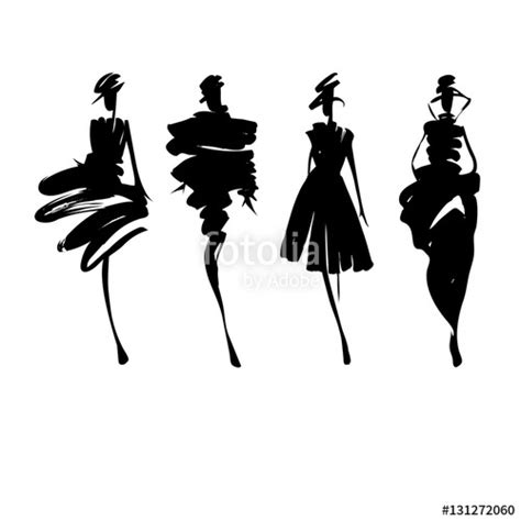 fashion illustration vector file quot fashion models sketch stylized silhouettes