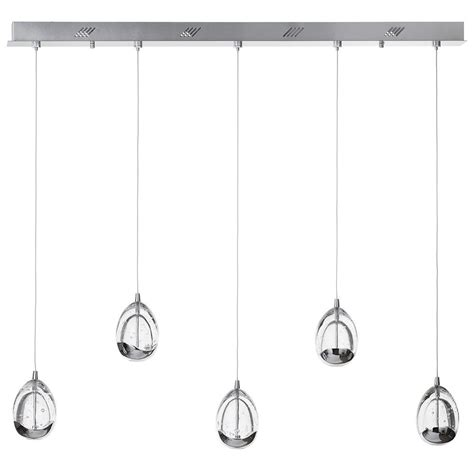 Kitchen Island Pendant bulla 5 light ceiling pendant light bar chrome from