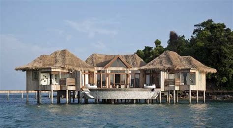 bungalow water thailand asia overwater bungalows photo