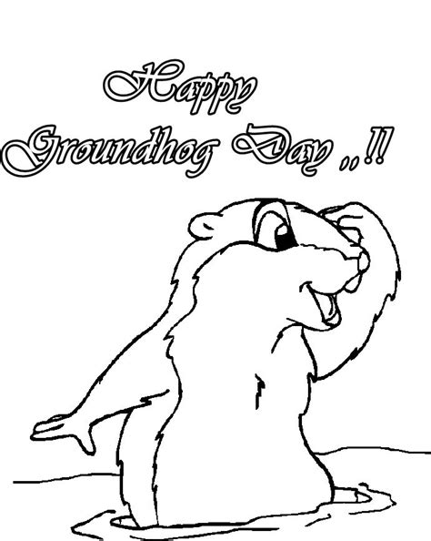 groundhog coloring page printable best photos of groundhog s day color sheet groundhog day
