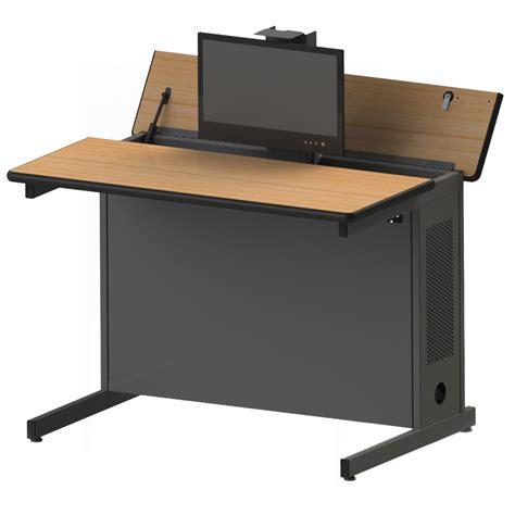 pcd pop up monitor desk workspacesandstorage com