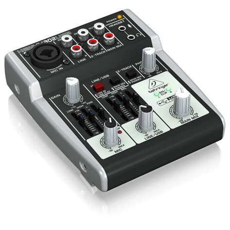 Mixer Behringer Mini behringer xenyx 302usb usb analog mixer at gear4music