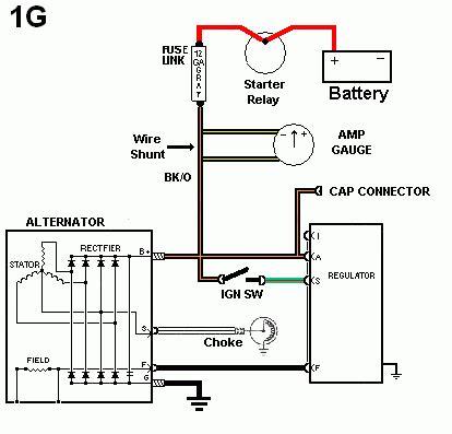 wiring diagram regulator alternator car repair