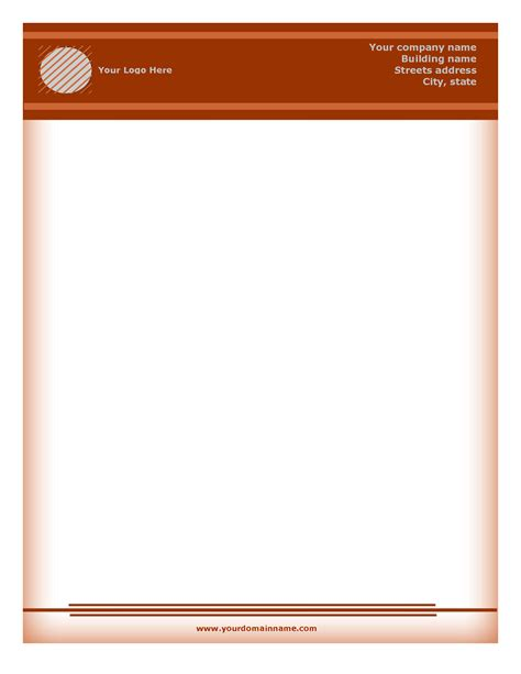 computer diagnostics letterhead template layout for microsoft word