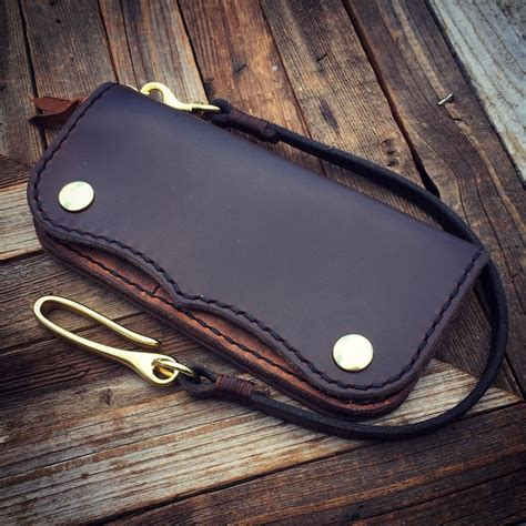Handmade Leather Biker Wallets - made leather wallet biker wallet by