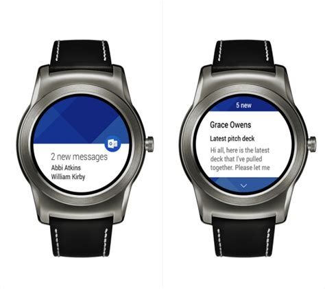 android weat microsoft s outlook app gains android wear support