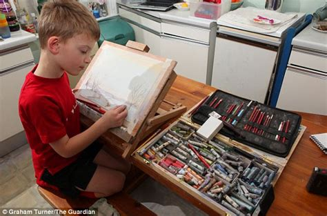 painting for seven year olds meet the mini monet seven year boy sells paintings