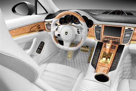 Porsche Panamera White Interior by Porsche Stingray Gtr With Crocodile And Gold Interior Topcar