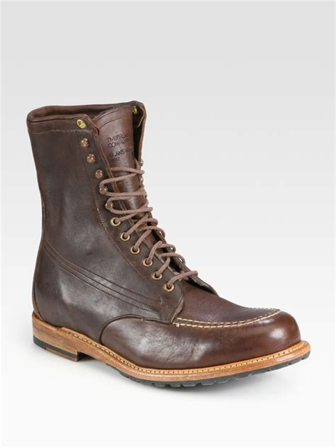 timberland winter boots timberland winter moc boot in brown for lyst