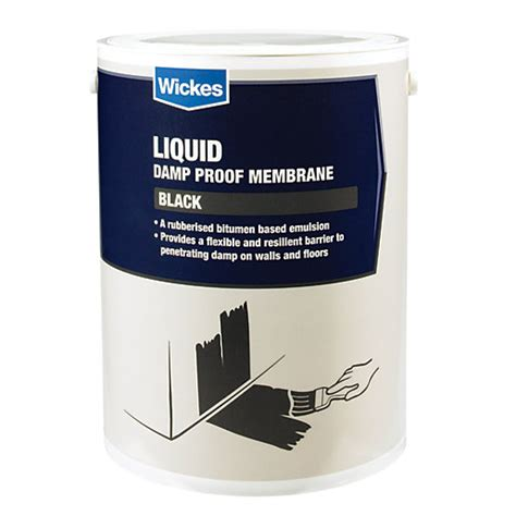 Liquid D Proof Membrane Concrete Floor by Wickes Bitumen D Proof Membrane Liquid 5l Wickes Co Uk