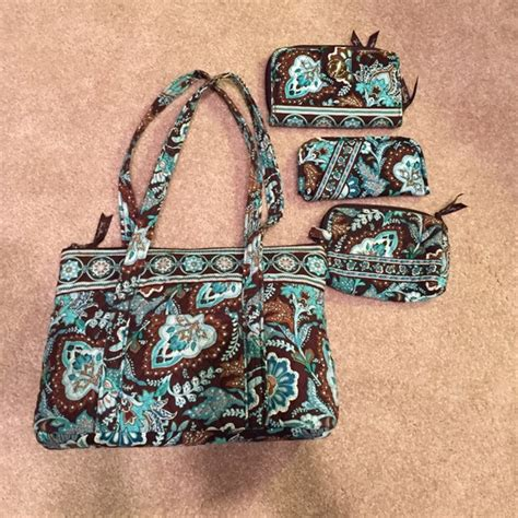 Java Set Navy vera bradley handbags java blue vera bradley set poshmark