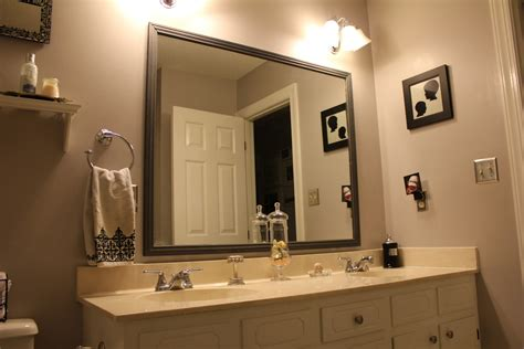 frame around mirror in bathroom peahen pad framing an existing bathroom mirror