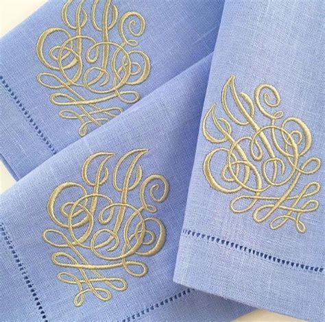 monogrammed linen napkins 25 best ideas about monogrammed napkins on