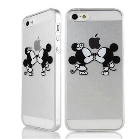 housse protecteur coque iphone  mickey minnie bisous