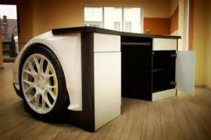 Auto Office Desk Recycling Car Parts For Unique Furniture Amazing Recycled Crafts And Modern Furniture Design Ideas