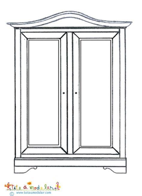 coloriage d une armoire sur t 234 te 224 modeler