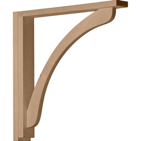 Shelf Bracket Wood by Ekena Millwork 2 1 2 In X 17 3 4 In X 17 1 4 In