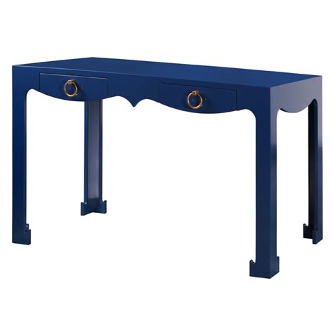 console desk navy blue by bungalow 5