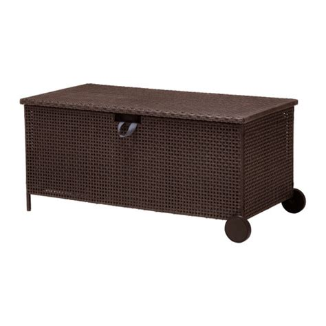 outside bench storage ammer 214 storage bench outdoor ikea