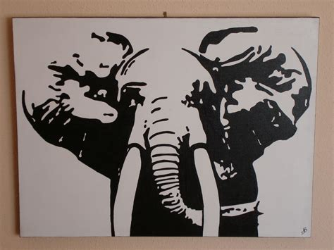 imagenes en lienzo negro elefante angel luis s 225 nchez blanco artelista com