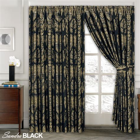 pre made drapes luxury jacquard curtains fully lined ready made tape top