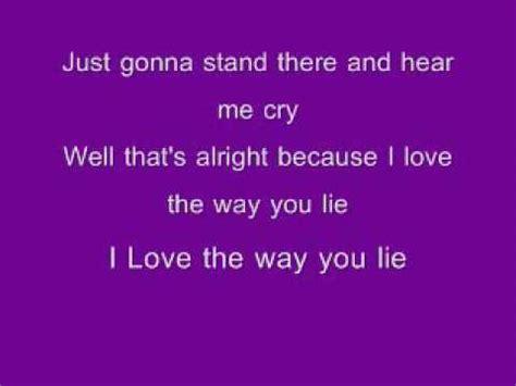 eminem love the way you lie lyrics eminem ft rihanna quot love the way you lie quot lyrics youtube