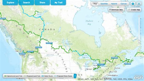 trans canada trail vancouver island map canada is building the world s trail and it s