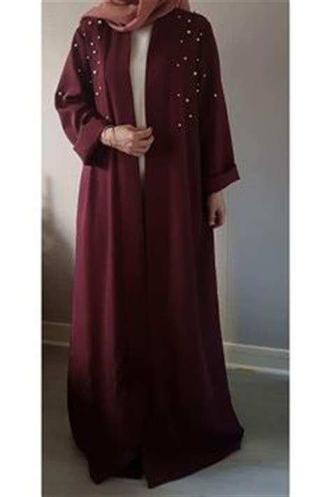 01 Kaftan Soraya Dusty open abaya dusty and chocolate dubai eid jilbab maxi dress kaftan two tones