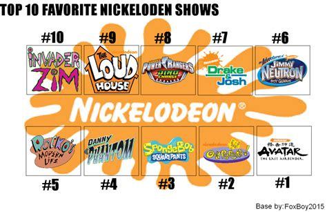 Nickelodeon Memes - top 10 favorite nickelodeon shows meme by foxboy2015 on